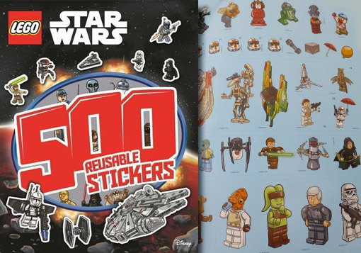 Lego Star Wars Activity Book 500 Stickers - Brick Party Bags